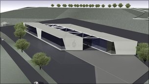 Artist's impression of new police HQ