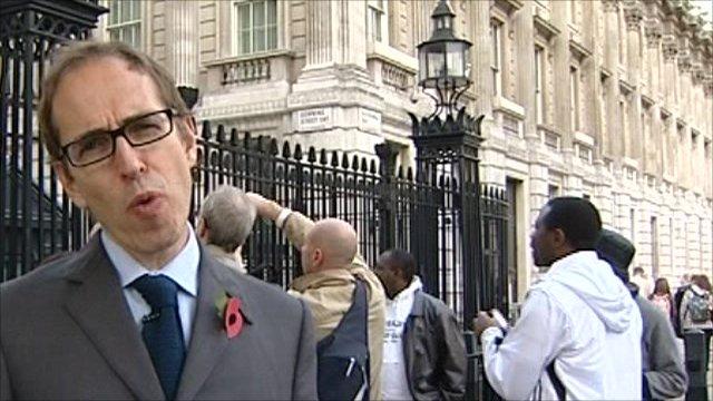James Delingpole outside Downing Street