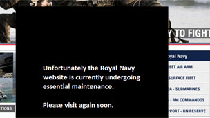 Screengrab of Royal Navy website, MoD