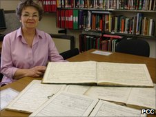 Dawn Gill, Archives Assistant with Powys Archives l