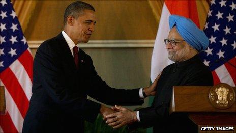 Barack Obama and Manmohan Singh