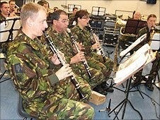 Band of the Parachute Regiment in rehearsal