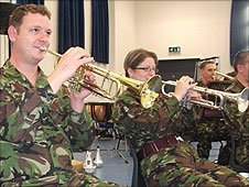 Rehearsals of the Band of the Parachute Regiment