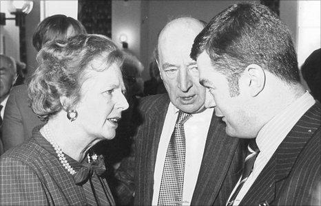 Felix Aubel meets Margaret Thatcher 1986