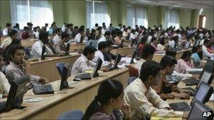 IT training in Mysore, India. File pic