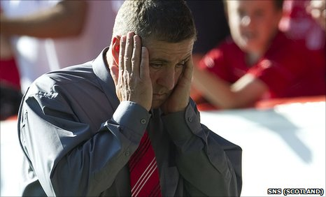 Aberdeen manager Mark McGhee