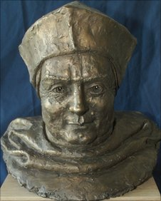 Thomas Wolsey bust by David Annand