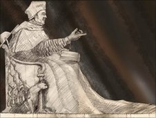 Artist's impression of Thomas Wolsey statue