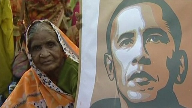 Bhopal survivor and President Barack Obama
