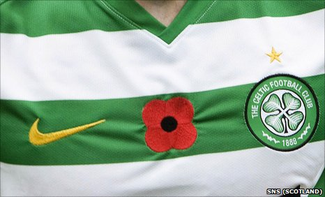 Celtic and all the other SPL clubs will wear poppies next weekend