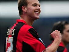Jordan Rhodes celebrates with Huddersfield