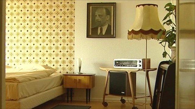 Hotel room in the old German Democratic Republic