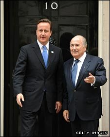 Fifa president Sepp Blatter recently met with British Prime Minister David Cameron to discuss England's bid