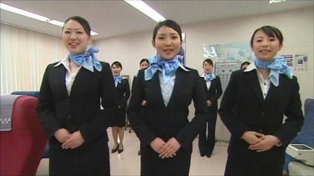 Stewardesses training