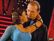 Matt Dawson and his dance partner Lilia Kopylova in 2006