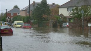 Flooding in Emsworth (by BBC viewer Alan Barwis)