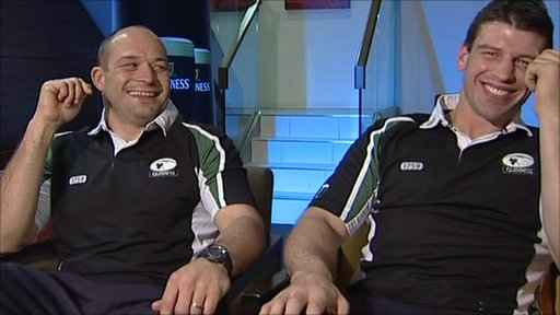 Rory Best and Denis Leamy