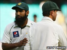 Mohammad Yousuf and Australia captain Ricky Ponting