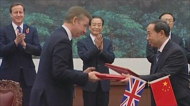 Trade deals signed in Beijing