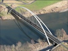 Artists impression of the new Navvies Bridge