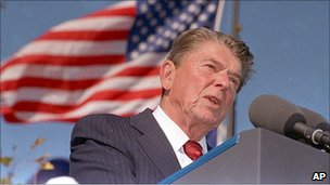 Ronald Reagan in 1991