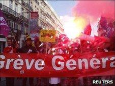 Strikers in France