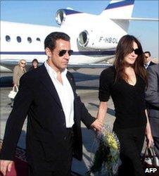 President Sarkozy and Carla Bruni