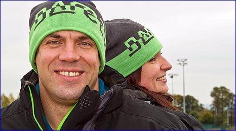 John Jackson and girlfriend and fellow bobsleigher Paula Walker
