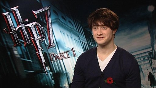 Daniel Radcliffe, who plays Harry Potter in the films