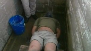 Demonstration of waterboarding