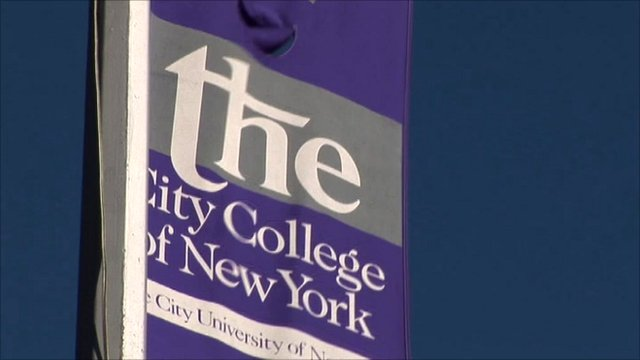 University banner in New York