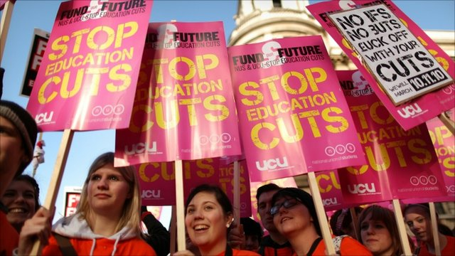 Student tuition fee protest