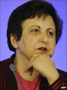 Iranian human rights campaigner Shirin Ebadi attends the 14th Forum 2010 Conference in this 11 October 2010 file photo in Zofin Palace in Prague