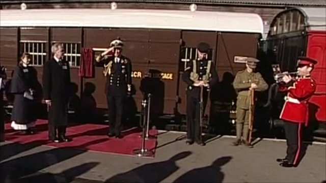 The restored carriage is unveiled