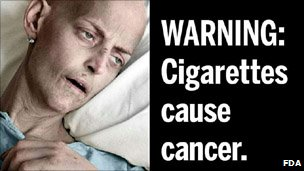 A proposed FDA cigarette packaging graphic