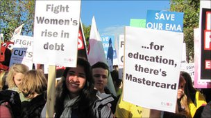 Fees protest