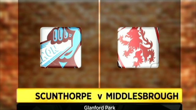 Scunthorpe v Middlesbrough graphic