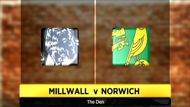 Millwall v Norwich graphic