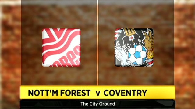 Nott'm Forest v Coventry graphic