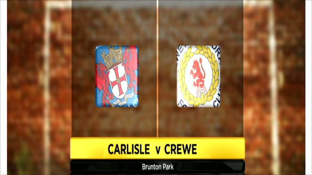 Carlisle v Crewe graphic