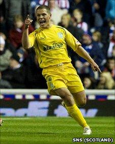Hibernian midfielder John Rankin
