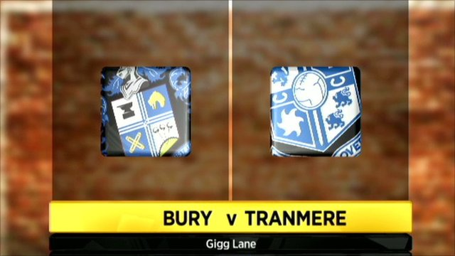 Bury v Tranmere graphic