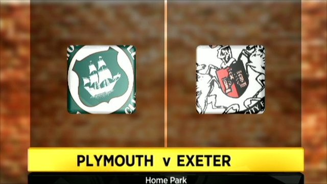 Plymouth v Exeter graphic