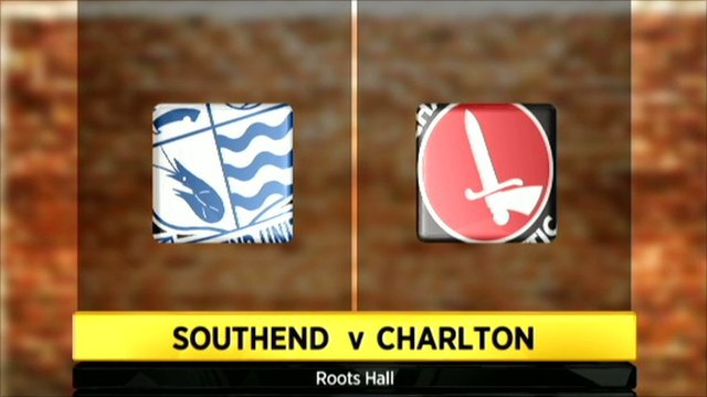 Southend v Charlton graphic