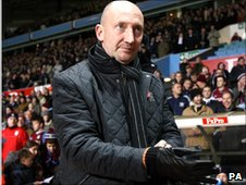 Ian Holloway at Villa Park