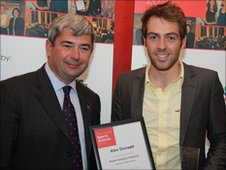 Cllr Stephen Castle with Alex Dowsett