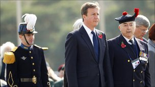 David Cameron at War memorial of Korea