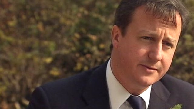 David Cameron praises police at Wednesday's student protests