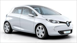 Renault's zero-emissions car, Zoe, due for release in 2012