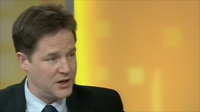 Deputy Prime Minister Nick Clegg on ITV&#039;s Daybreak